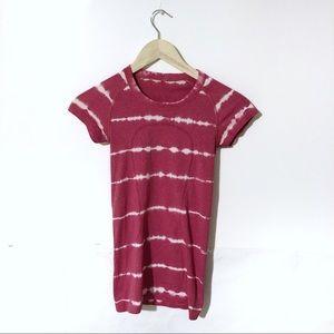 LuluLemon Swiftly Pink Tie Dye Crew T-shirt